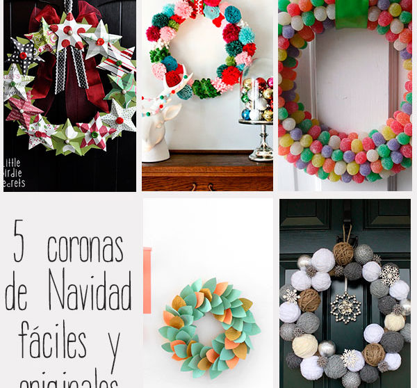 5 Coronas De Navidad F Ciles Y Originales