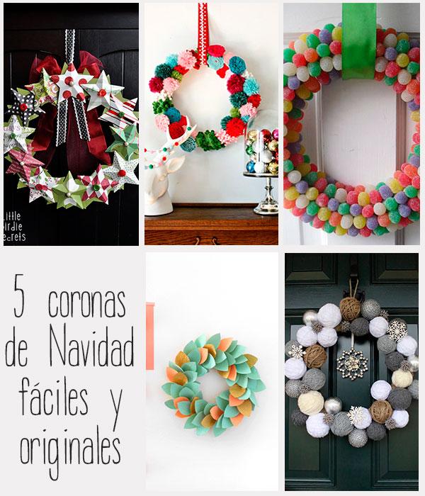 5 coronas de navidad f ciles y originales pequeocio - Adornos originales para navidad ...