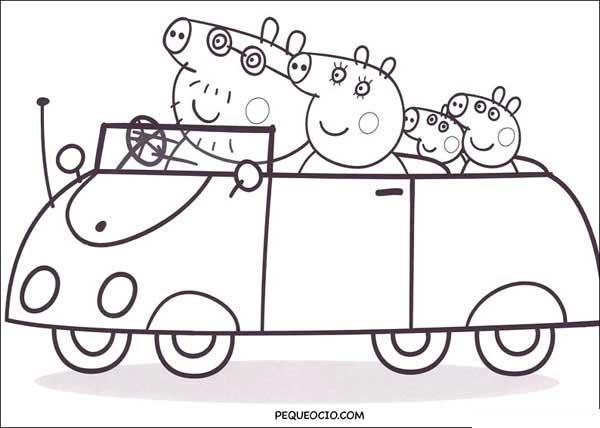 Dibujos De Peppa Pig Para Colorear Pequeociocom