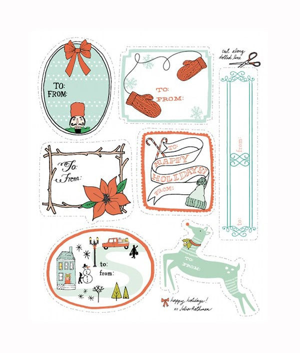 etiquetas de regalo imprimibles para navidad