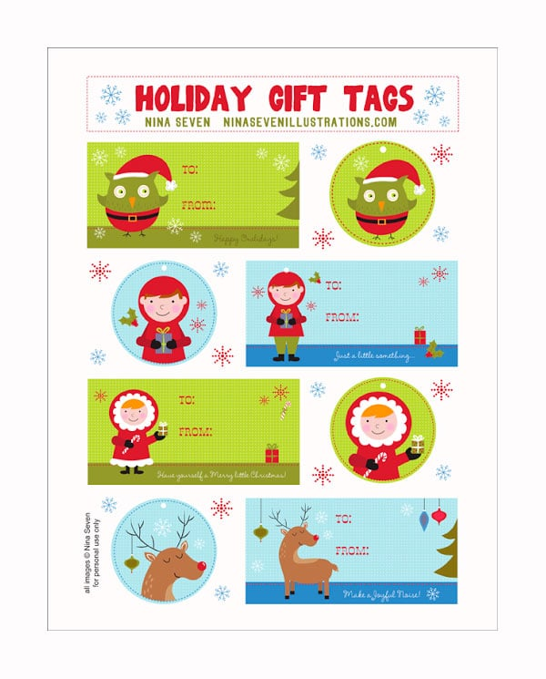 etiquetas para regalo con personajes navideos etiquetas de navidad