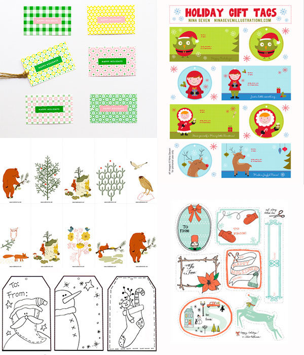 etiquetas de regalo navideñas para imprimir gratis