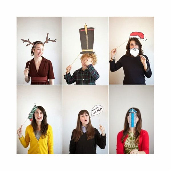 postal de navidad con fotos divertidas