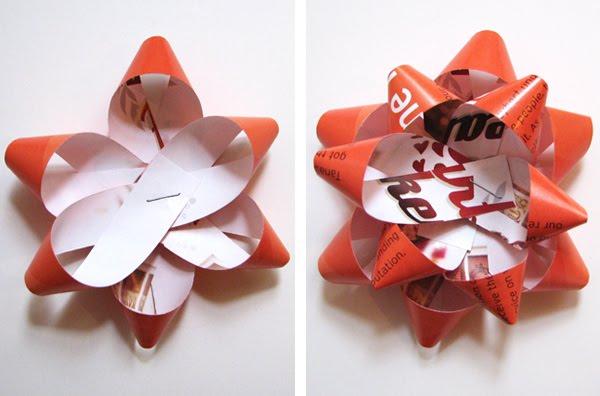 cómo hacer un lazo con papel de revista