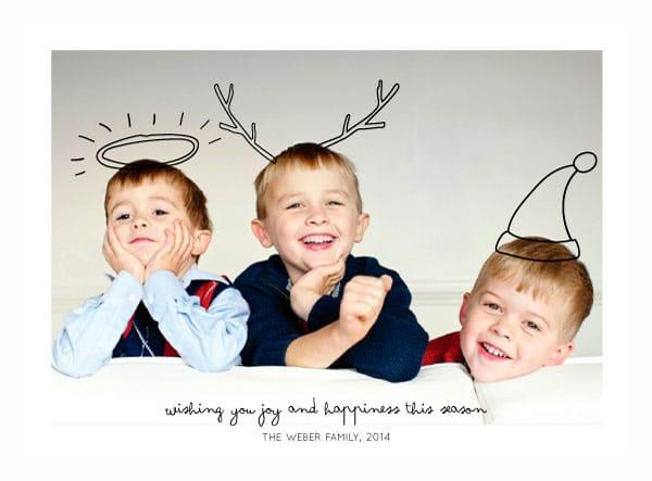 felicitaciones de navidad con fotos familiares