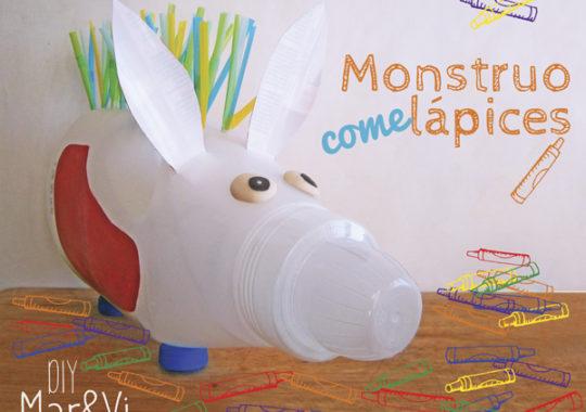 Manualidades para niños: monstruo comelápices
