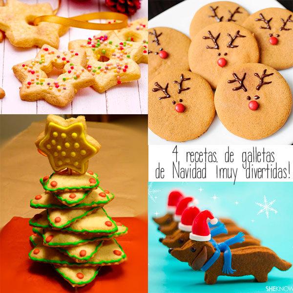 recetas divertidad de galletas de navidad