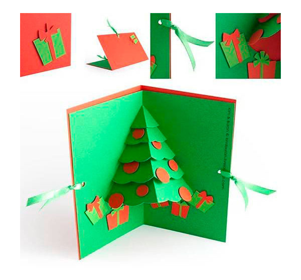 Hacer Felicitaciones De Navidad Por Internet.Tarjeta De Navidad Hecha A Mano Pequeocio Com