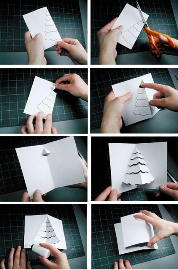 Tarjeta de navidad hecha a mano - Como hacer tarjetas de navidad faciles ...