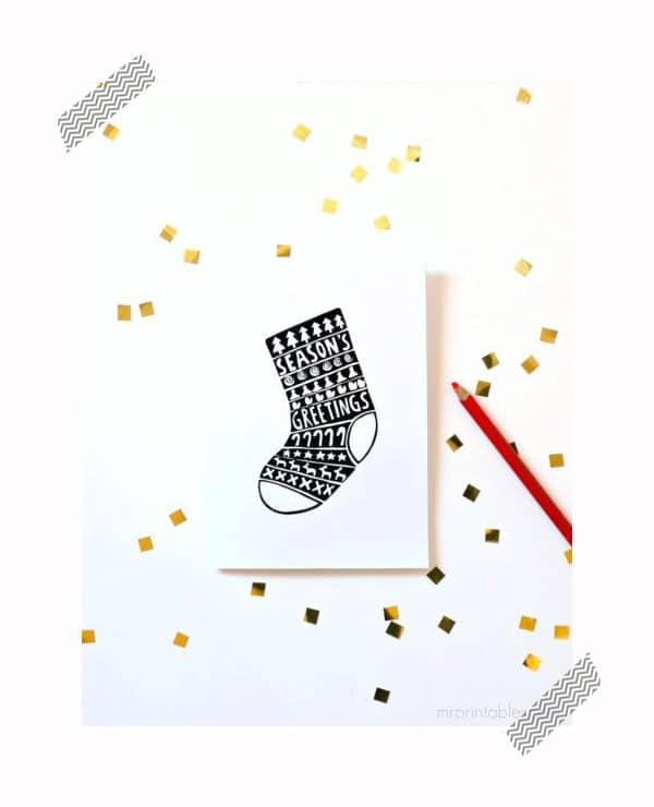 imprime y colorea tus tarjetas de navidad