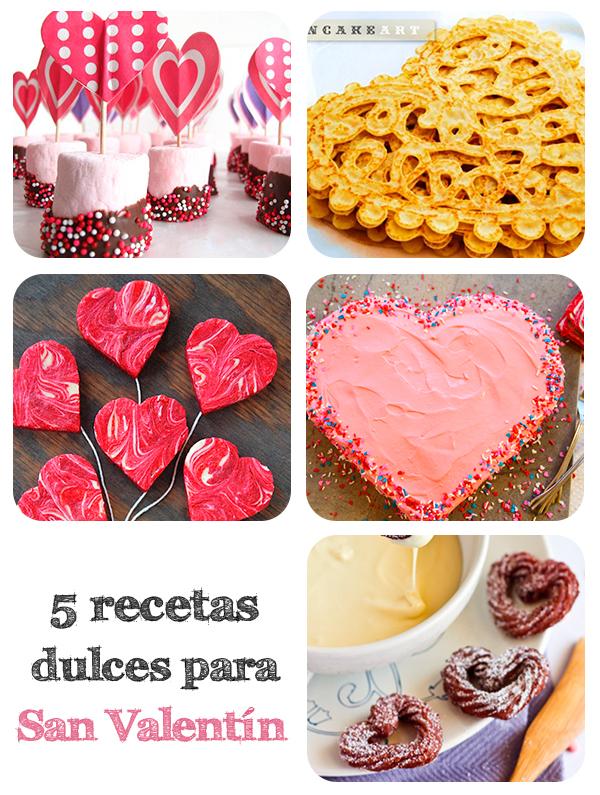 5 recetas dulces para san valentin