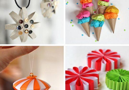 5 adornos caseros de papel para el árbol de Navidad 4