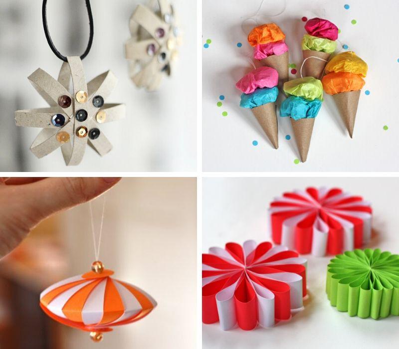 5 adornos caseros de papel para el árbol de Navidad 2
