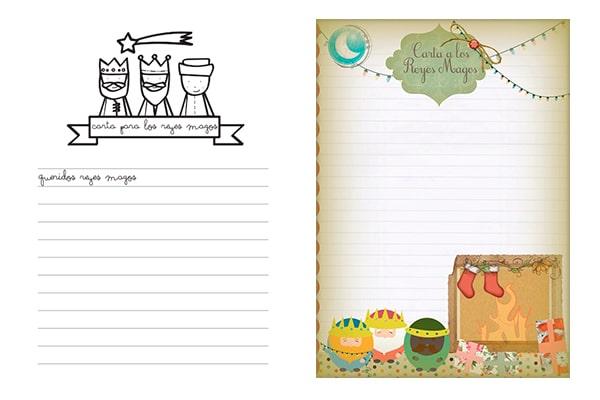 Worksheet. 2 cartas para los Reyes Magos para imprimir gratis  Pequeocio
