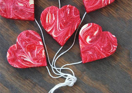 recetas de san valentín corazones de cheesecake