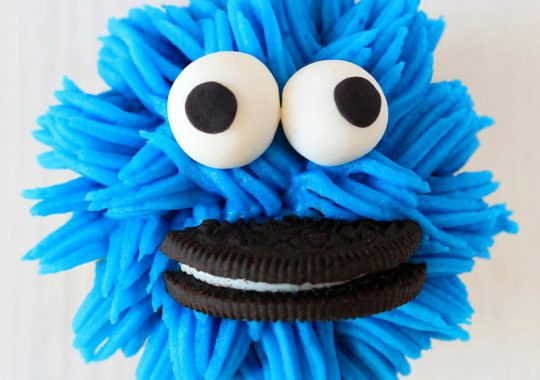 Cupcakes monstruo de las galletas