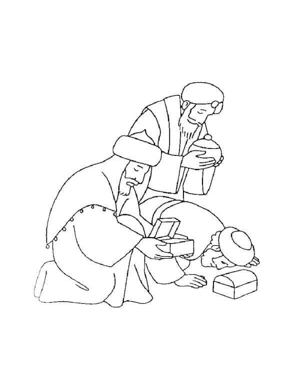 descargar dibujos para colorear de los reyes magos