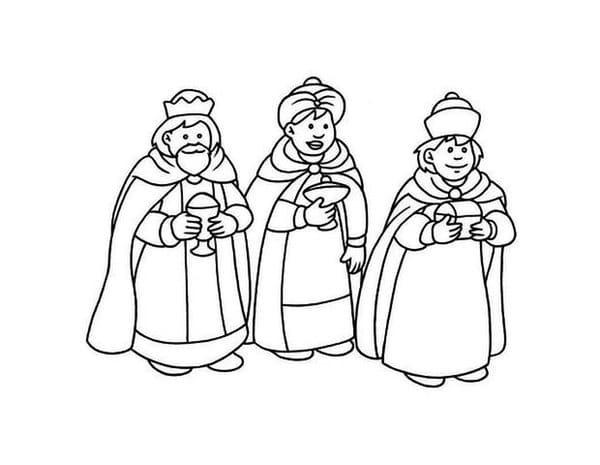 Dibujo De Los Reyes Magos De Oriente Para Pintar Y  Share ...
