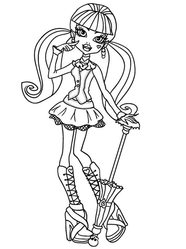 Dibujos para colorear de las Monster High