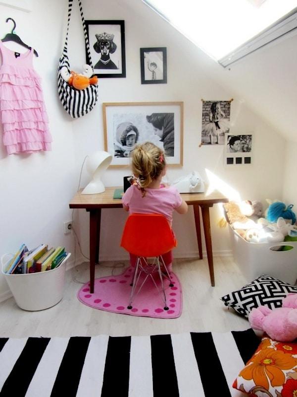 escritorio infantil para espacios pequeños