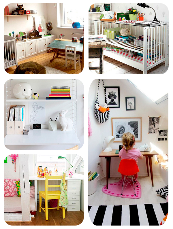 20 ideas para escritorios infantiles insp rate for Decoracion de escritorios