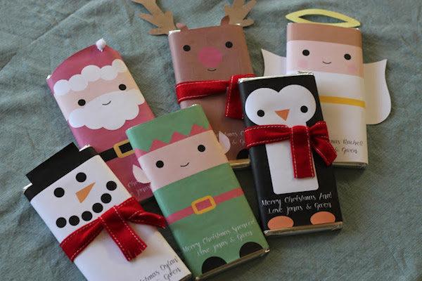 envoltorio para chocolatinas de navidad