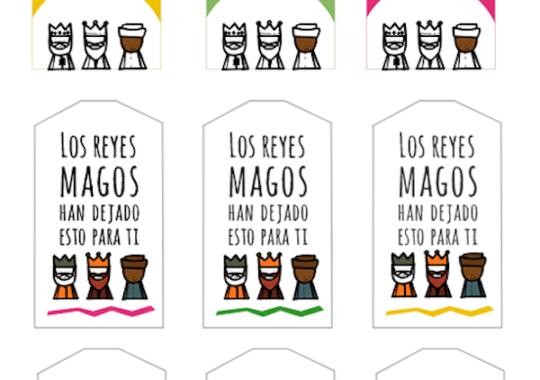 etiquetas para los regalos de Reyes