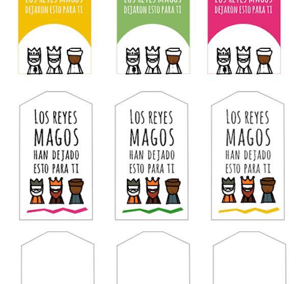 Imagenes Tres Reyes Magos Gratis.Etiquetas Para Los Regalos De Los Reyes Gratis Pequeocio Com