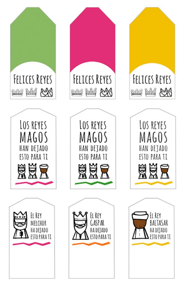 etiquetas para imprimir gratis de los reyes magos