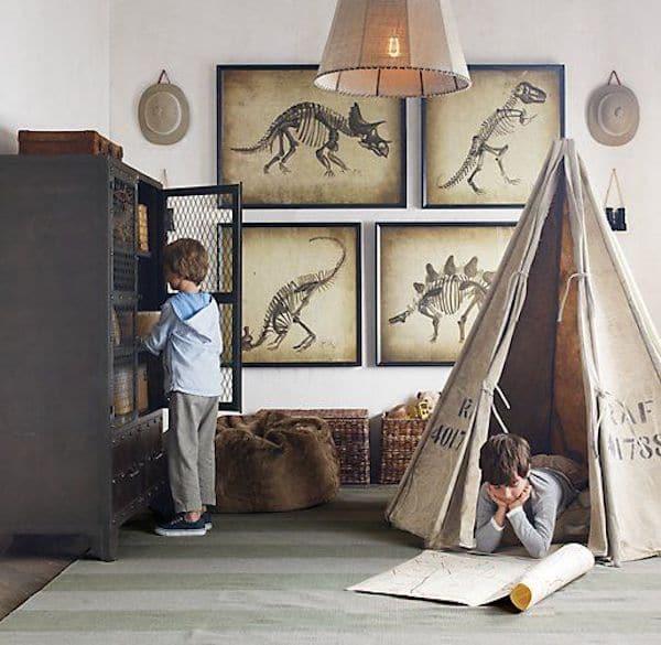 ideas para decorar la habitacion con dinosaurios