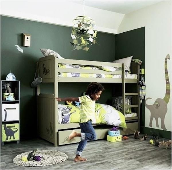 4 habitaciones infantiles de dinosaurios pequeocio - Habitacion con literas para ninos ...