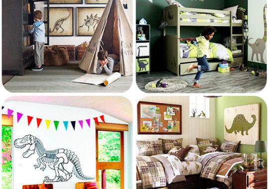 dormitorios infantiles de dinosaurios