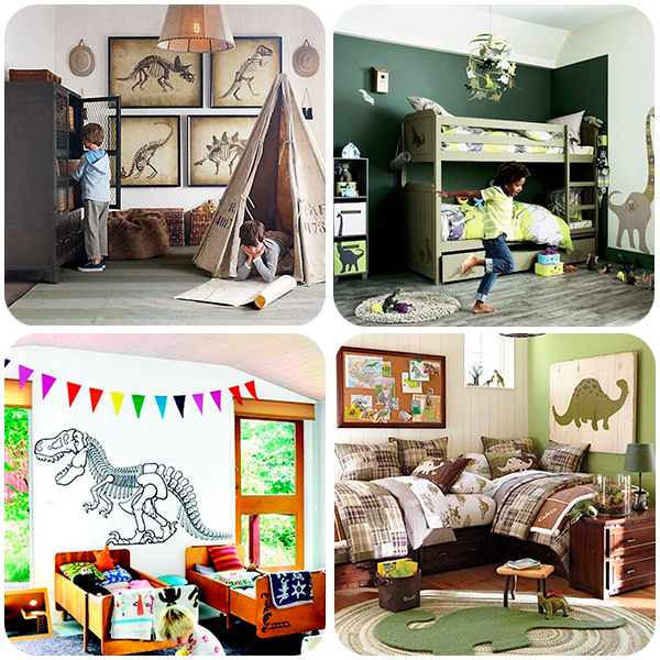4 habitaciones infantiles de dinosaurios pequeocio - Ideas decoracion habitacion infantil ...