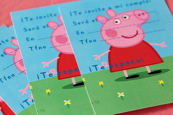 invitación de cumpleaños pepa pig