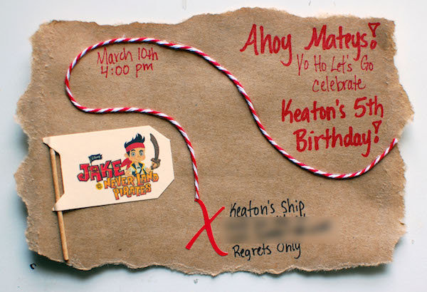 Jake And The Neverland Pirates Birthday Invitations with good invitations ideas