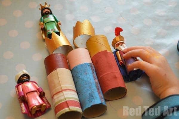 tutorial para hacer los reyes magos con tubos de cartón