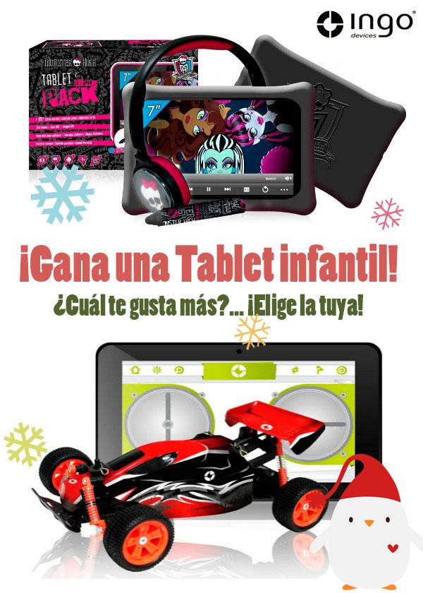 Sorteo tablet infantil