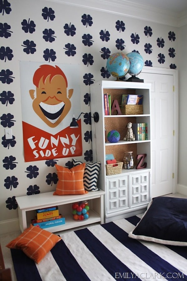 ideas para decorar las paredes con stencil