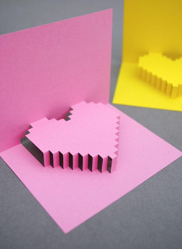 tarjeta para san valentin con corazon popup