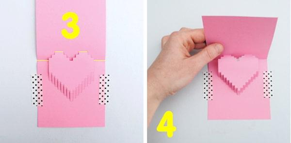 tutorial para hacer una tarjeta para san valentin pop up