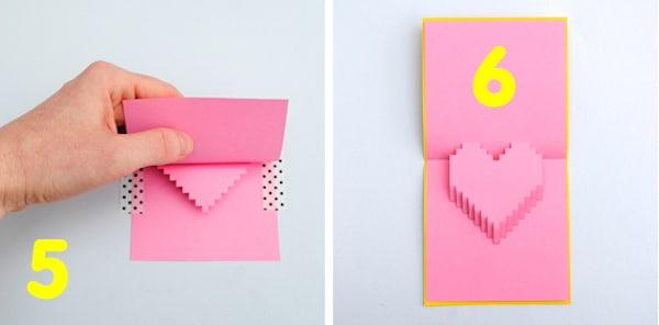 cómo hacer una tarjeta pop up para san valentin