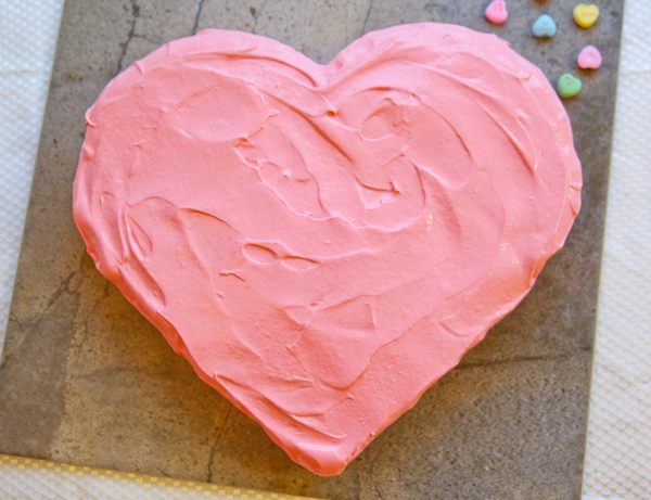 tarta en forma de corazón muy fácil