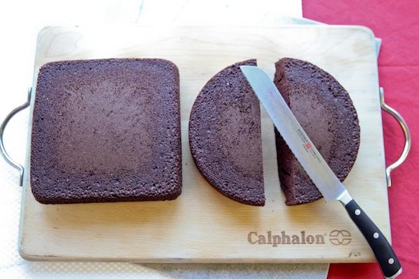 torta fácil de corazón sin molde