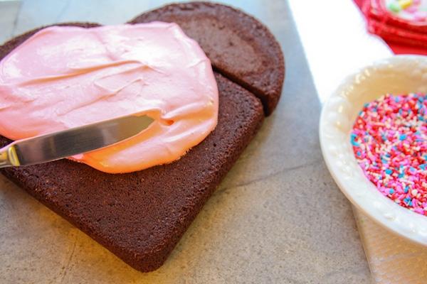 tarta de corazón sin molde