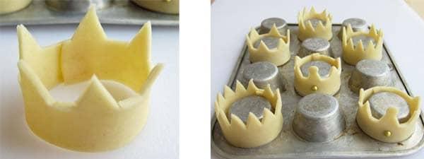 postre de mousse de queso y bananas glaseadas