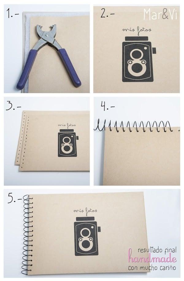 C mo hacer un lbum de fotos personalizado - Hacer un album de fotos casero ...