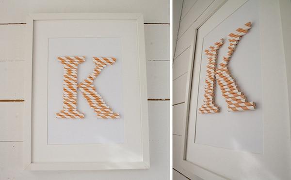 cuadros con letras caseros
