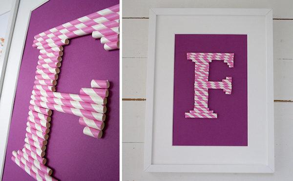 cómo hacer letras con pajitas