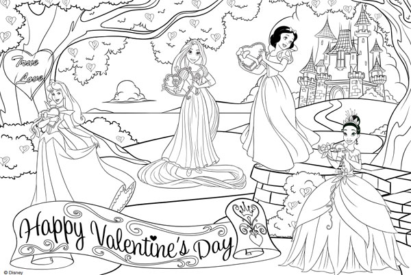 Dibujos de San Valentn para colorear de Disney  Pequeocio