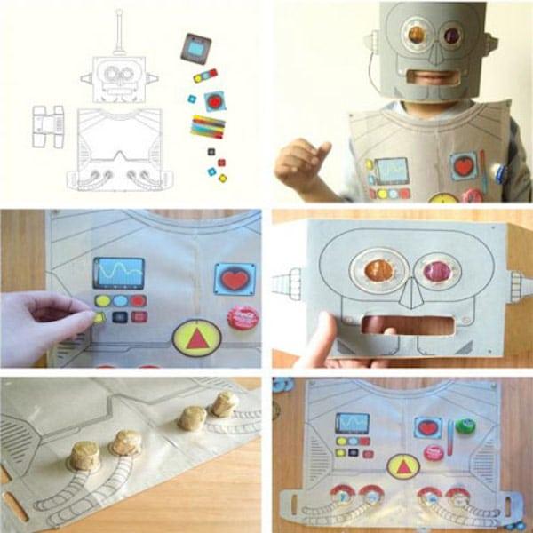 disfraz de cartón de robot